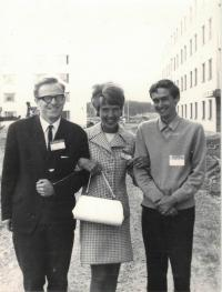 Minister Dus left, at the conference in Uppsala, 1968
