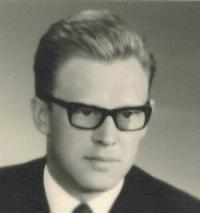 Jaromír Dus, portrait, Prague 1962