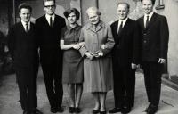 The family Dus, Jaromír 2nd left, Brno 1960