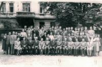 Professors and students of the of the Faculty of Evangelical Theology, Prague 1960