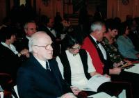 Anna and Jaromír Dus at a concert, Spanish Hall of the Prague Castle, 2004
