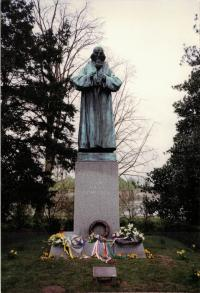 The monument of Jan Amos Comenius by Vincenc Makovský, Naarden, Holland