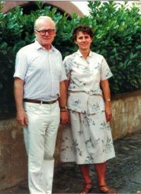 Anna and Jaromír Dus, 25th wedding anniversary, Strassbourg, France 1991