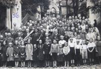 Pilgrimage to Vambeřice in Kladsko, the late thirties