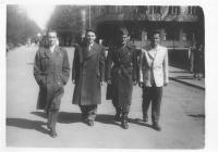 Foursome - from the left - Mr. Hradec as the second, Milan Paumer - in uniform and Josef Mašín