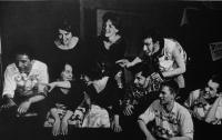 """""""Rain Gutter Theatre"""" (Divadélko pod okapem) - photo from 1962"""