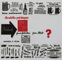 """""""Rain Gutter Theatre"""" (Divadélko pod okapem) - poster from 1963"""