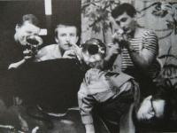 """""""Rain Gutter Theatre"""" (Divadélko pod okapem) - photo from 1963"""