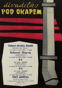 """""""Rain Gutter Theatre"""" (Divadélko pod okapem) - poster from 1964"""