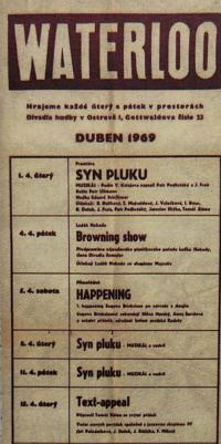 Waterloo Theatre - programme from April 1969