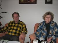 Miroslav Hampl with his wife, Evžénii, 2009