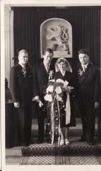 Wedding of Miroslav Hampl and Evžénie Hajná - 1955