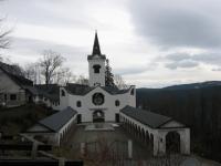 Poutní kostel Panny Marie Pomocné -březen 2010 -Stanislav Lekavý zde dělá duchovního správce