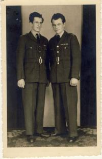 With his brother František in the RAF unit