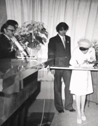 Kateřina Dejmalová - Wedding with Ivan Dejmal in 1977