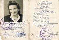 Riesel Petr - průkaz maminky Ireny Rieselové