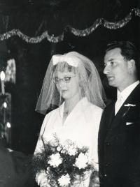 Riesel Petr - svatební foto 1963 nebo 1964