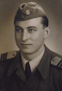 01- serving in the army in Havlickuv Brod in 1954