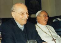 With abbot Kramár in Želiv, 2011