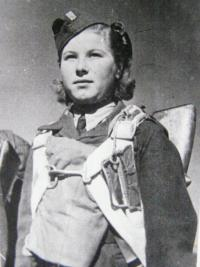 Valentina (Vanda) Biněvska as a member of 2th paratrooop brigade
