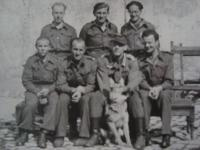 Captives with the prison commander (1st row, 2nd from left) in besieged Dunkerque, Bedřich Utitz in 2nd row, 1st from right