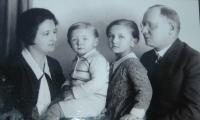With parents and brother Arnošt