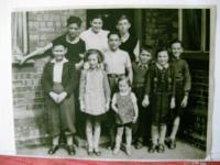 A group of children in Stoke on Trent 1939