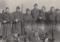 1953 in Army, 2nd left Asaf Auerbach