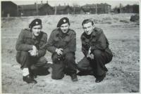 Jaroslav Vrtálek in 1945 - the first from left