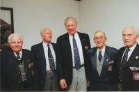 From the left: Unknown, Josef Polívka, Josef Hercz, František Wawrečka, Jan Koukol