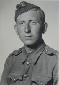Vladimír Beran in Czechoslovakian army troop (builder´s company- Prague 1945)