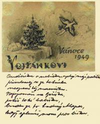 Letter from the prison addressed to his son Vojtěch