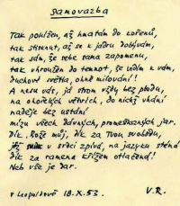 Leopoldov memory book - the author is his cellmate Václav Renč