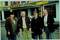 Cellmates, from the left: Pravomil Reichl, general of the army Rudolf Pernický, Vojtěch Klečka, Ladislav Kořán