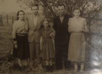 Na návštěvě Podkarpatské Rusi v 50. letech, Michal Demjan druhý zleva