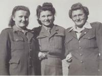 Anastazie with her friend Lída Reblová and older sister Emilie