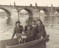 After the war in Prague (Lída Reblová, Family Kozak, uncle Jaroslav Prokůpek