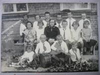 Life at Volhynia - class with Czech teacher (Mrs. Rudkovská in the circle)