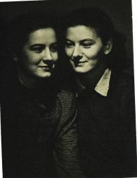 With sister Ola, 1944