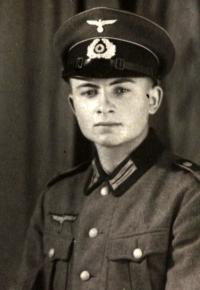 Antonín Drong in the Wehrmacht uniform
