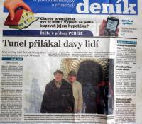 """Newspaper article mentioning Mr. Drong, """"Tunnel Attracts Crowds"""""""