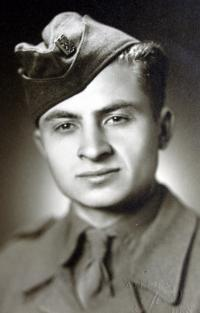 Antonín Drong during his military service