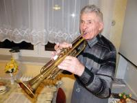 Mr. Drong with trumpet (January 2012)