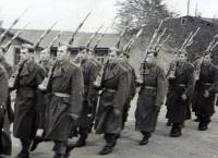 Marching after the oath of enlistment