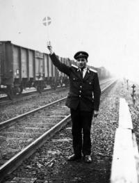 Antonín Drong on duty as a dispatcher