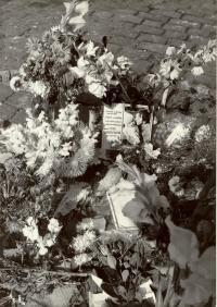 1968, srpen, pomník Marii Charouskové, oběti okupantů