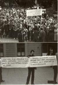 1968, návštěva Josipa Brože - Tita těsně před okupací vojsky Varšavské smlouvy
