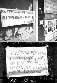 """1968, srpen, """"lidová tvořivost"""" proti okupantům - dvojportrét"""
