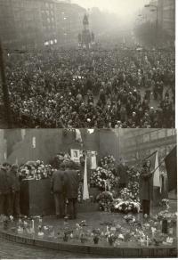 1969, leden, tryzna za Jana Palacha, Václavské náměstí