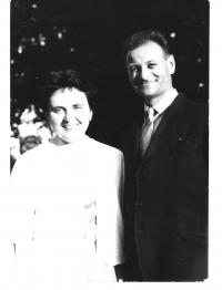 Bauer with his wife